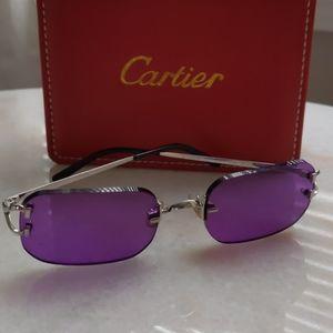 Authentic vintage frameless Cartier sunglasses